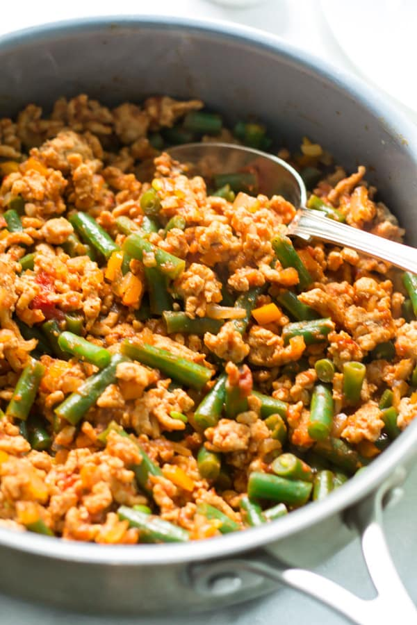 Ground Turkey Skillet with Green Beans Primavera Kitchen Recipe