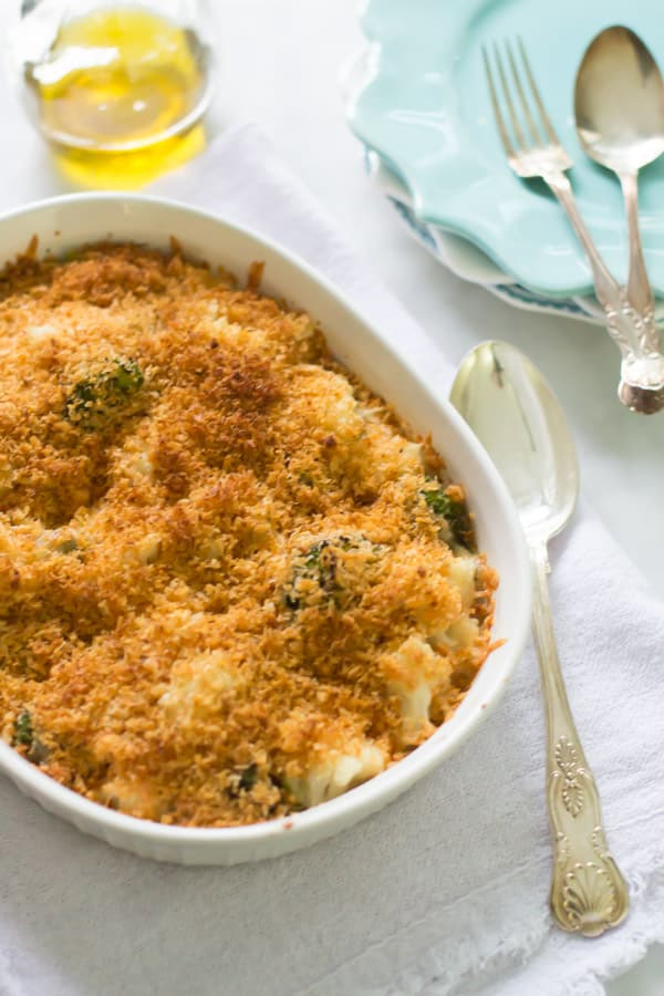 Cheesy Broccoli-Cauliflower Bake_-9