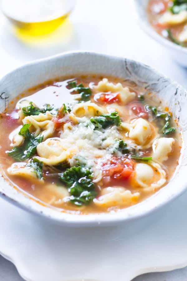 Kale Tomato Tortellini Soup Primavera Kitchen Recipe