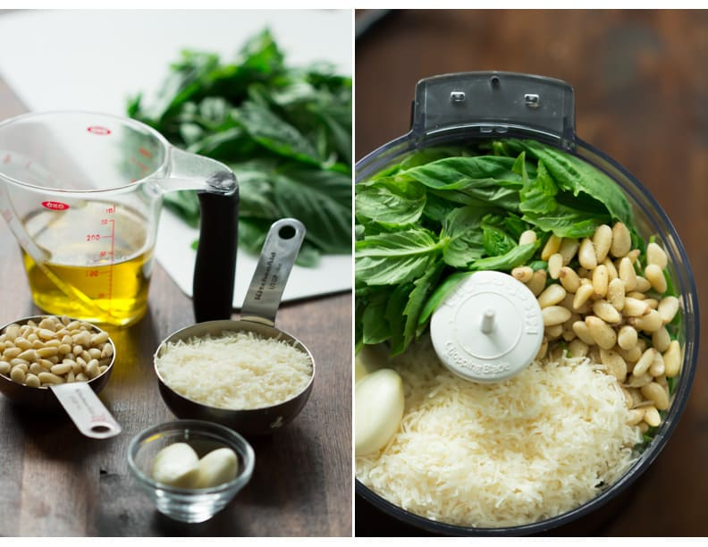 How to make Homemade Basil Pesto - Homemade classic basil pesto recipe with just 5 ingredients. This is a perfect recipe to replace your store-bought pesto.
