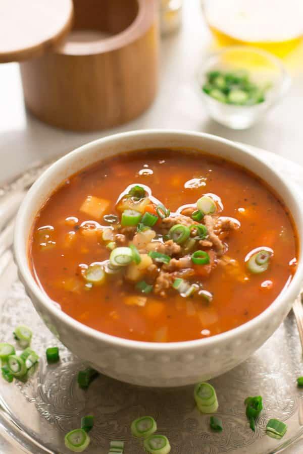 Ground Turkey Soup with Veggie Roots Primavera Kitchen Recipe