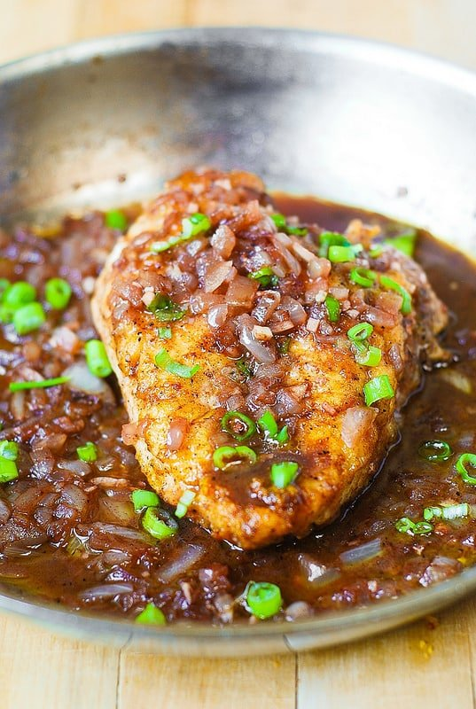 Pan-Seared Chicken Breast with Shallots from Julia's Album.