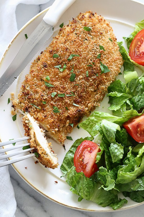 Mustard & Herb Crusted Chicken Breasts from Skinny Taste.