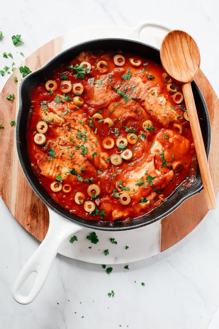 3 Ingredient Tilapia Skillet Recipe Primavera Kitchen
