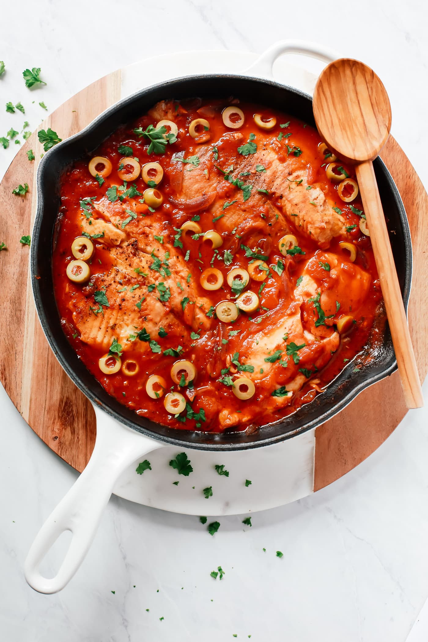 3-ingredient Tilapia Skillet Primavera Kitchen Recipe