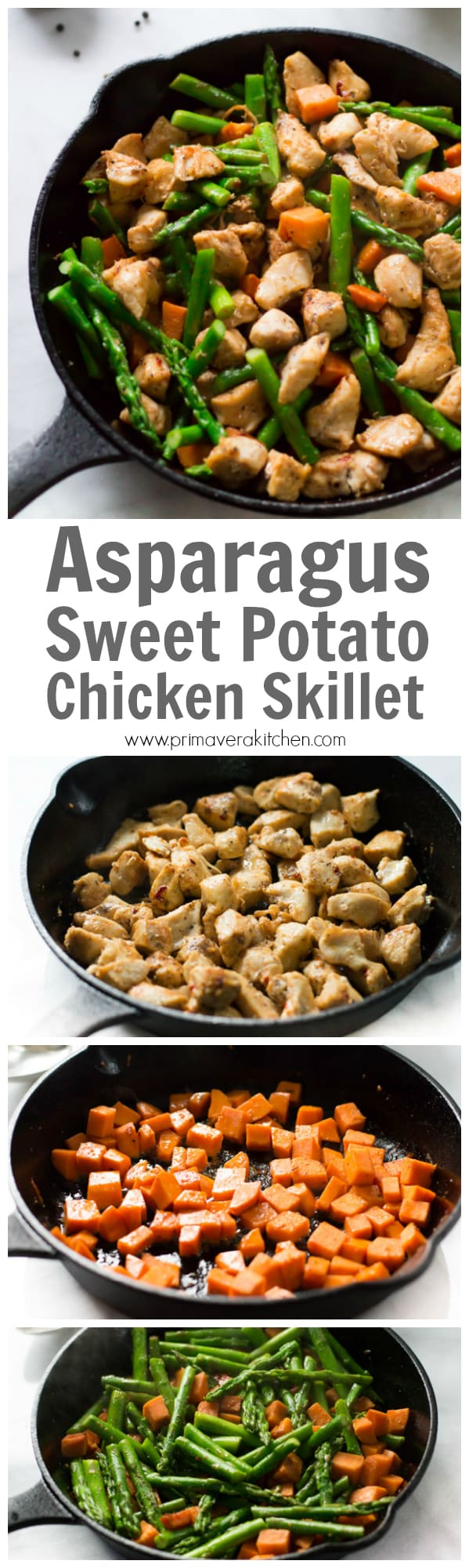 This Asparagus Sweet Potato Chicken Skillet Recipe Is A Delicious Healthy And Easy To Make Meal