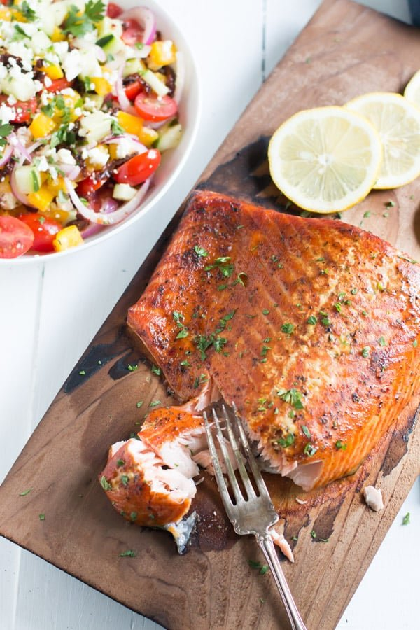 Easy Cedar-Plank Salmon Primavera Kitchen Recipe