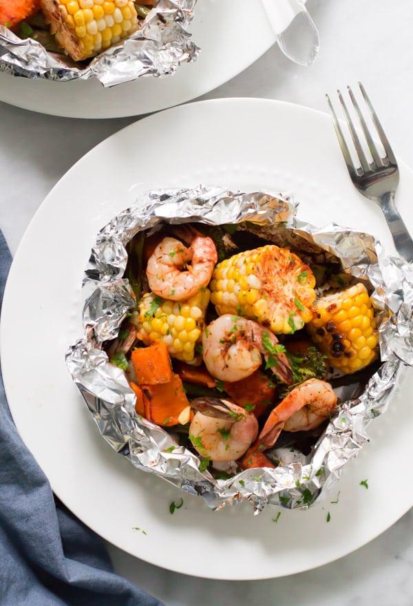 Shrimp Boil Foil Packets Primavera Kitchen Recipe