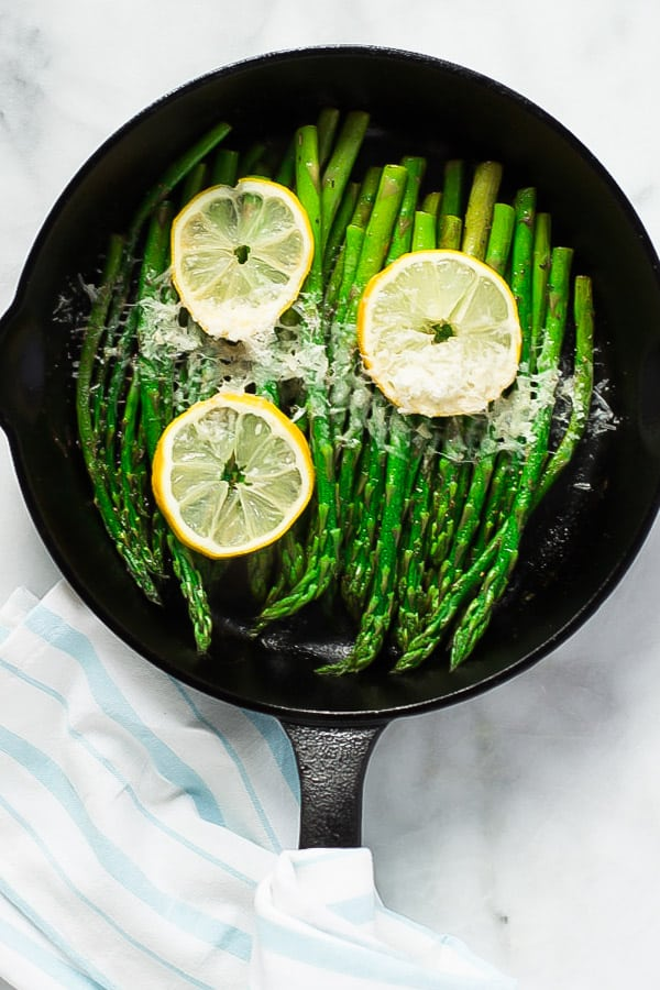 Parmesan Lemon Asparagus Skillet Primavera Kitchen Recipe