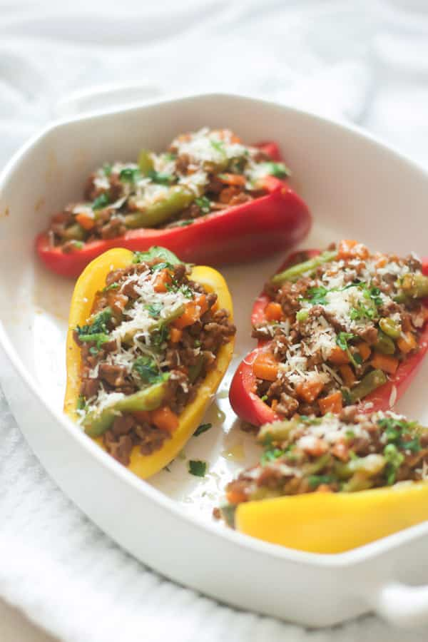 easy ground turkey stuffed peppers Recipe Primavera Kitchen