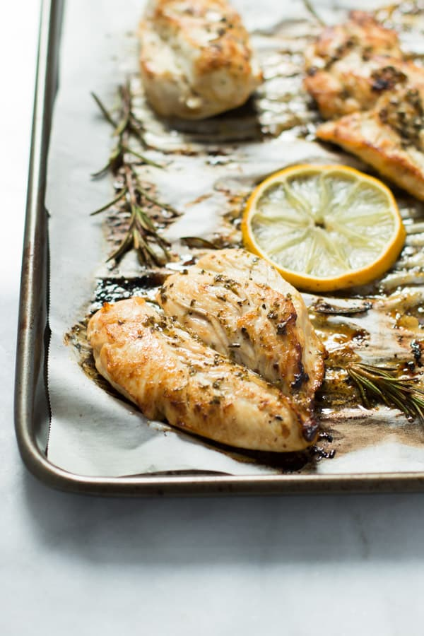 Paleo Lemon Roasted Chicken Breast