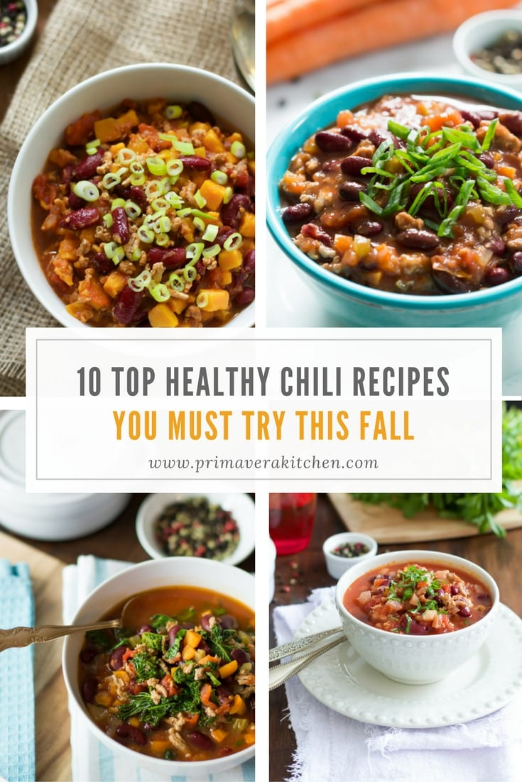 top-10-healthy-chili-recipes-you-must-try-this-fall - Let's kick off the new season with this Top 10 Healthy Chili Recipes You Must Try This Fall. These chili recipes are vegetarian, paleo and gluten-free and they will warm up your dinner weeknights.