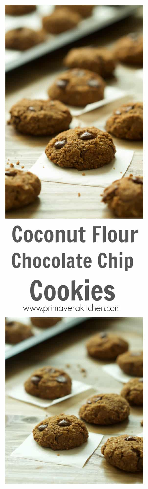 Gluten-free Coconut Flour Chocolate Chip Cookies - Primavera Kitchen