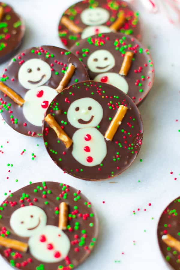 snowman chocolate cups primavera kitchen recipe