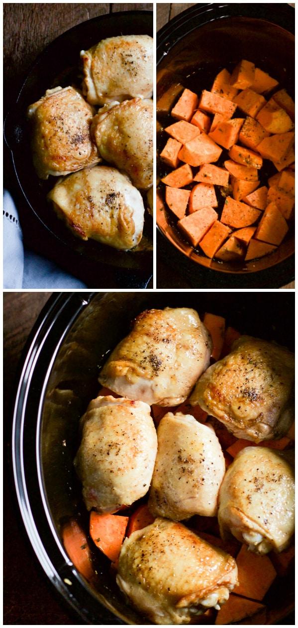 Slow Cooker Chicken and Sweet Potato Primavera Kitchen Recipe