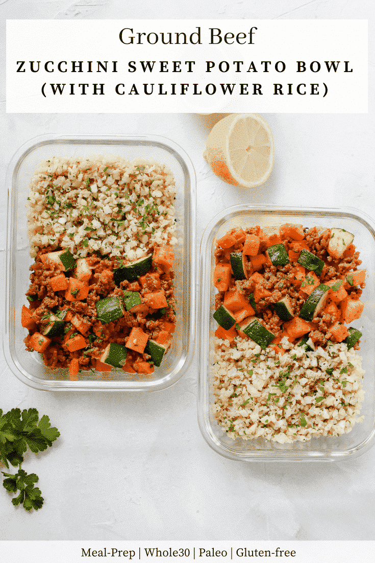 Ground Beef Zucchini Sweet Potato Skillet (Meal Prep)