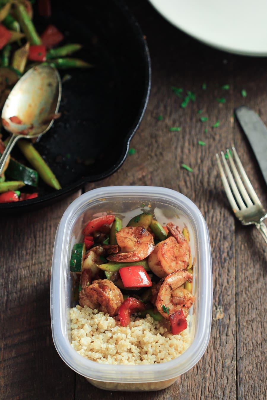 Shrimp Vegetable Skillet (Meal Prep) Primavera Kitchen Recipe