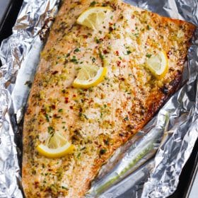 Garlic Butter Salmon In Foil Recipe Primavera Kitchen