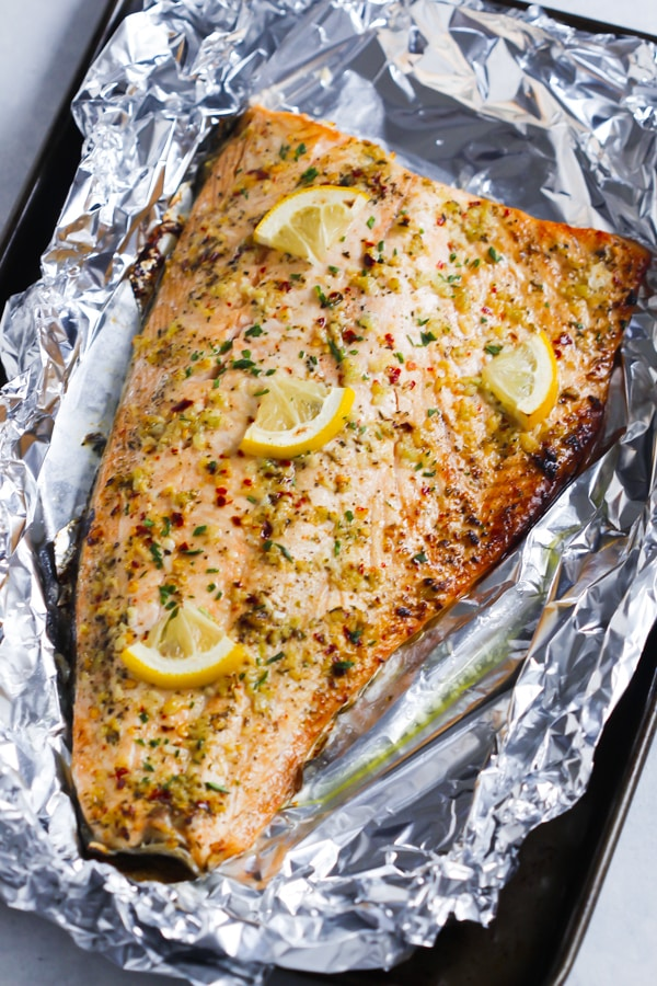 Garlic Butter Salmon In Foil Easy Delicious Healthy