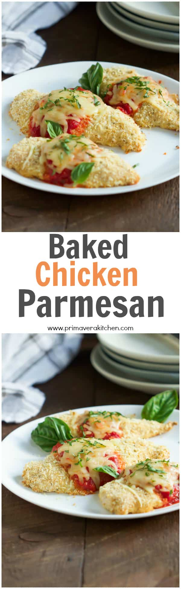 Baked Chicken Parmesan This Baked Chicken Parmesan Is Light Version Of The Traditional Italian Recipes