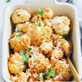 Garlic Parmesan Roasted Cauliflower Primavera Kitchen Recipe