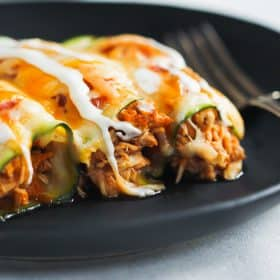 Low-carb Chicken Zucchini Enchilada Primavera Kitchen Recipe