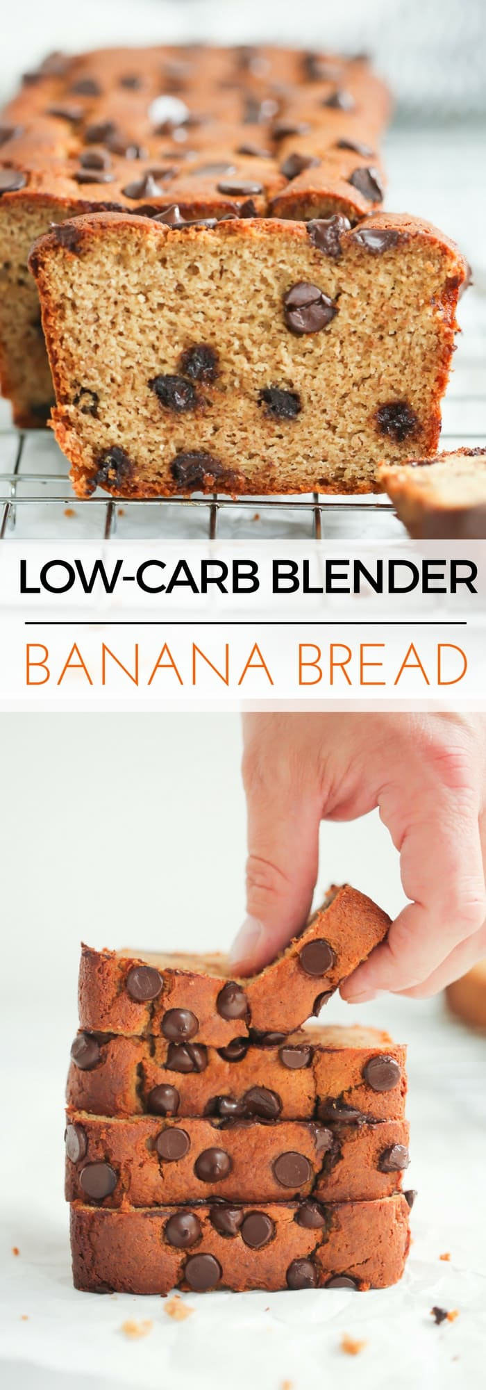 Low-carb blender banana bread - This Low-carb Blender Banana Bread is ultra-easy to make. Simply toss all of the ingredients into the blender, pour into the pan and bake it for 40 mins! Done! And It's gluten-free too!