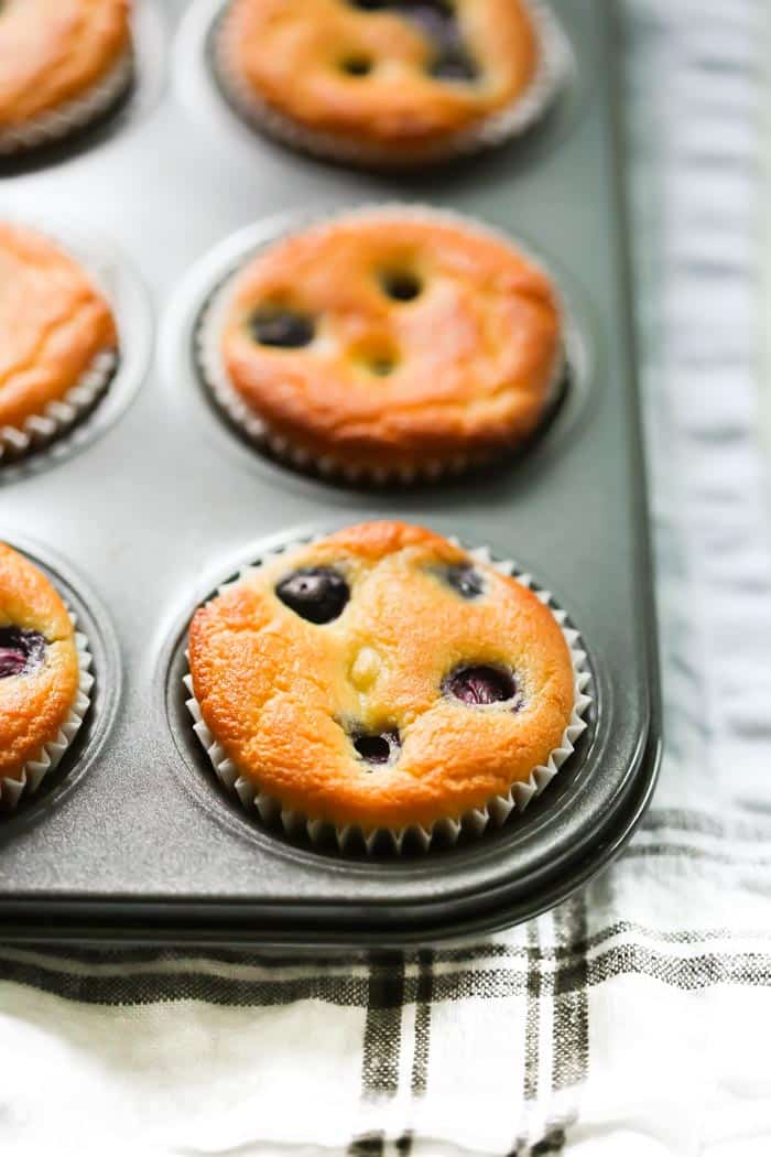Low-carb Lemon Blueberry Blender Muffins Primavera Kitchen Recipe