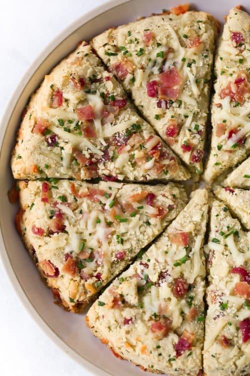 Low-carb Bacon and Cheese Scones Primavera Kitchen Recipe