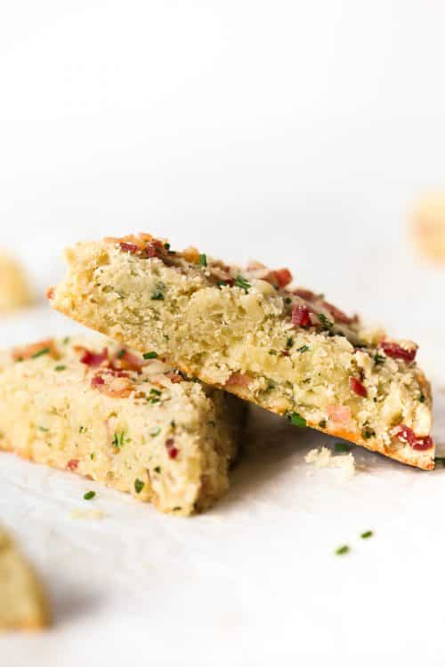 Low-carb Bacon and Cheese Scones Primavera Kitchen Recipe