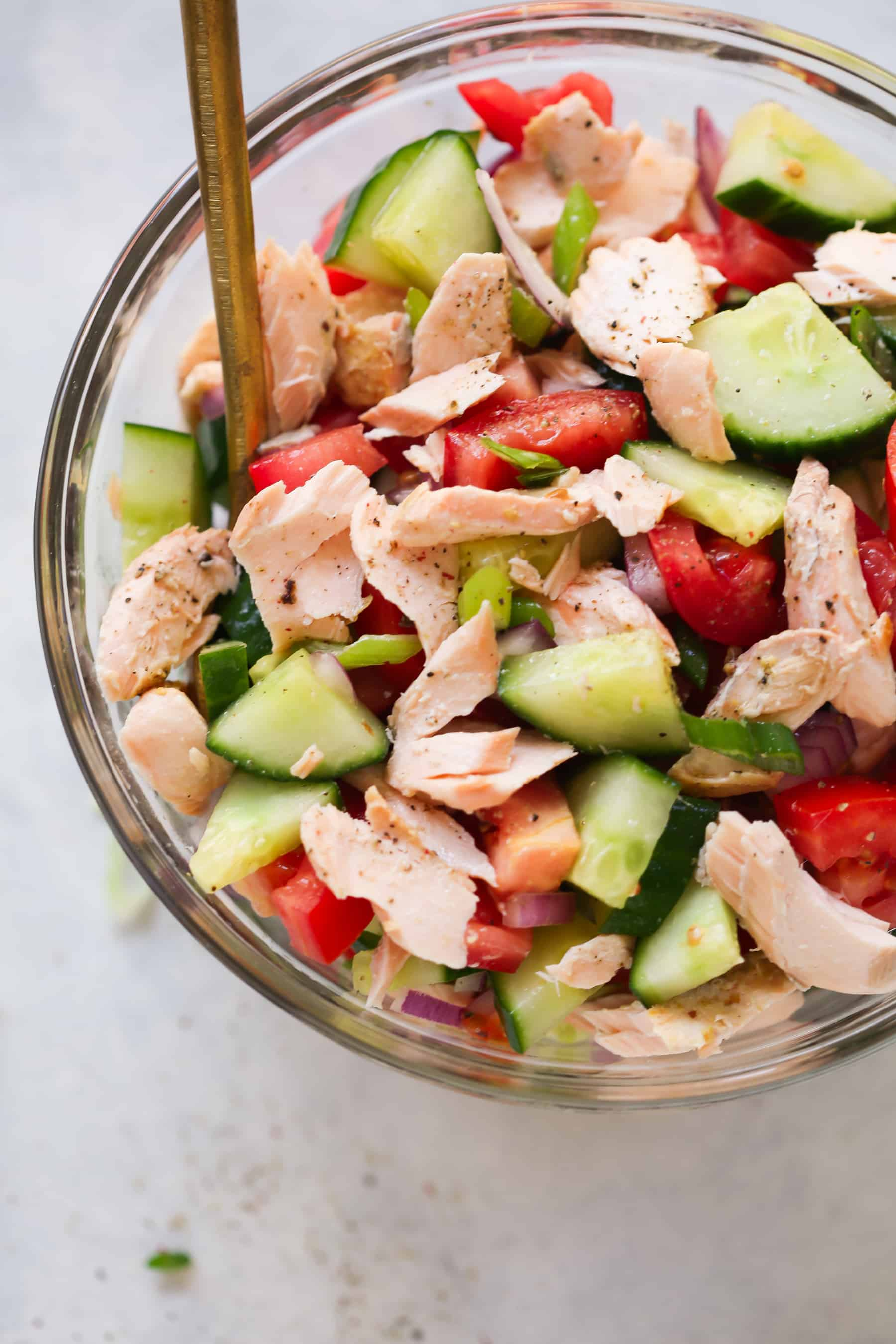 Salmon Chopped Salad Recipe