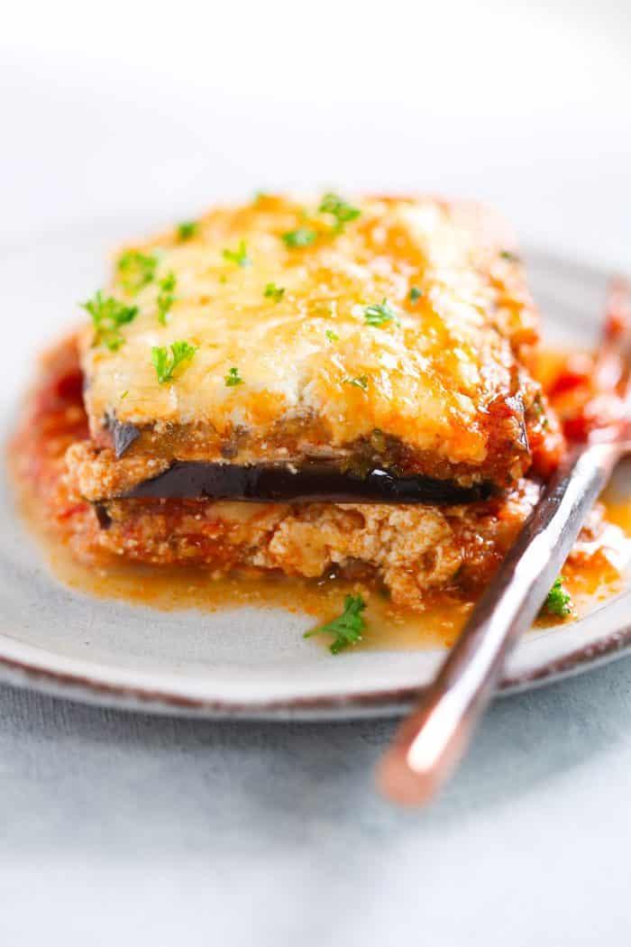 Low-Carb Auberginen Lasagne Primavera Küchenrezept