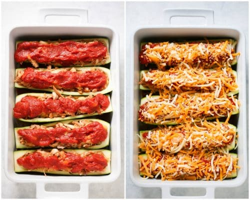 5-Ingredient Chicken Zucchini Boats Primavera Kitchen Recipe