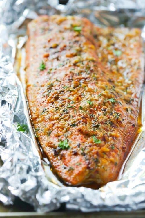 Spicy Butter Salmon in Foil Primavera Kitchen Recipe