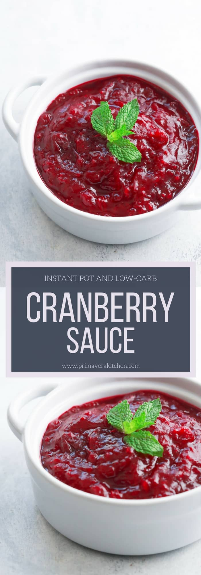 This Instant Pot Low-carb Cranberry Sauce is the easiest and fastest recipe you will ever make for the holiday season. It's delicious and more important it's sugar-free!