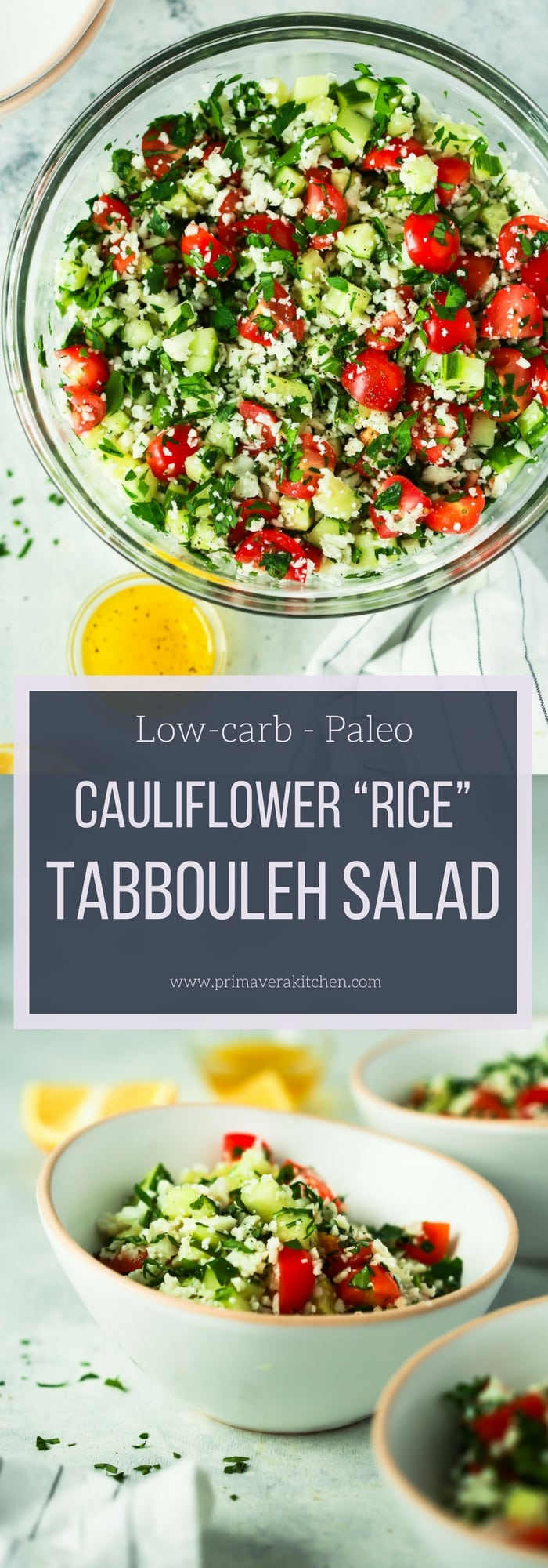 "Cauliflower ""Rice"" Tabbouleh Salad"
