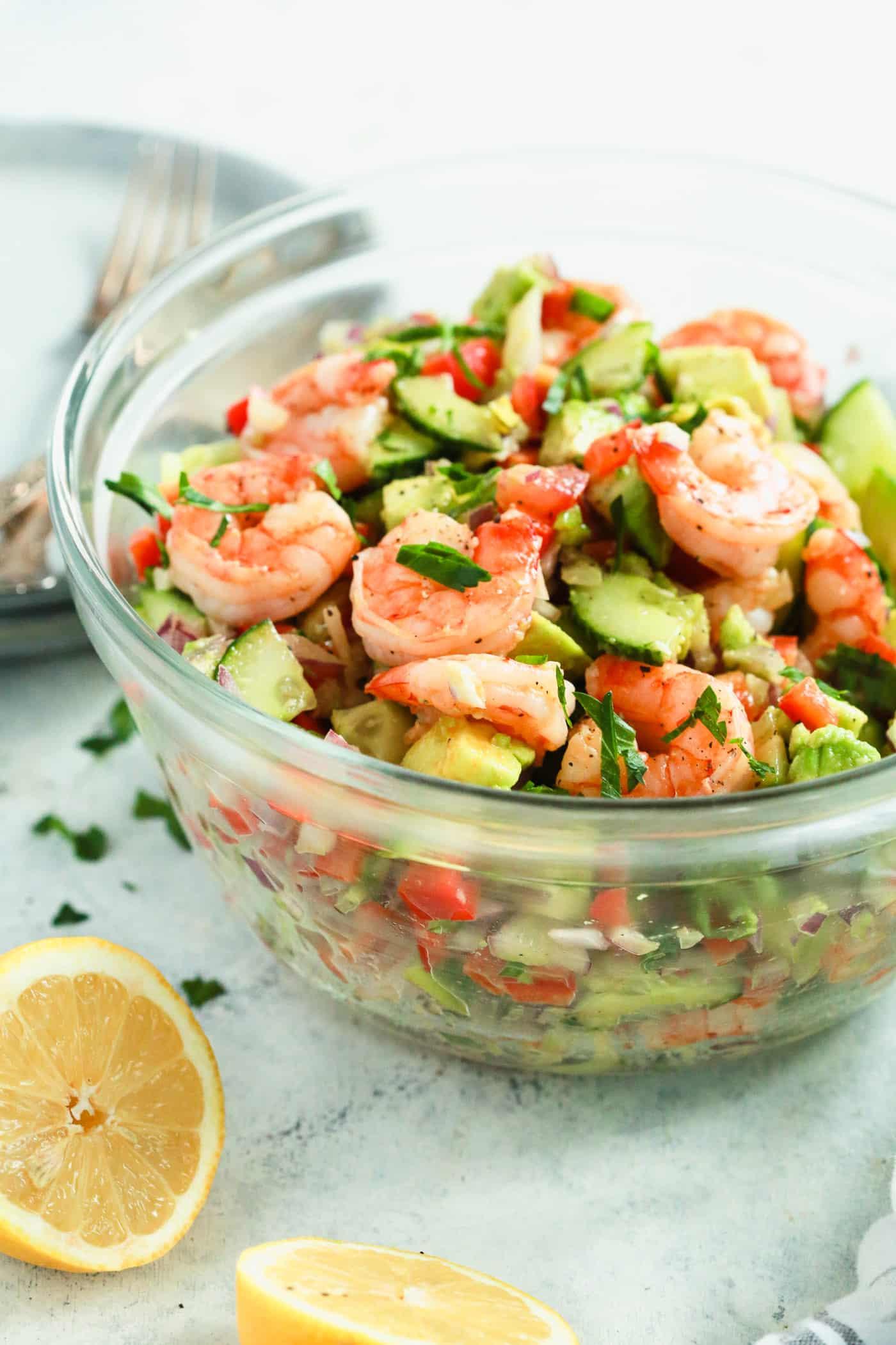 Shrimp Avocado Cucumber Salad