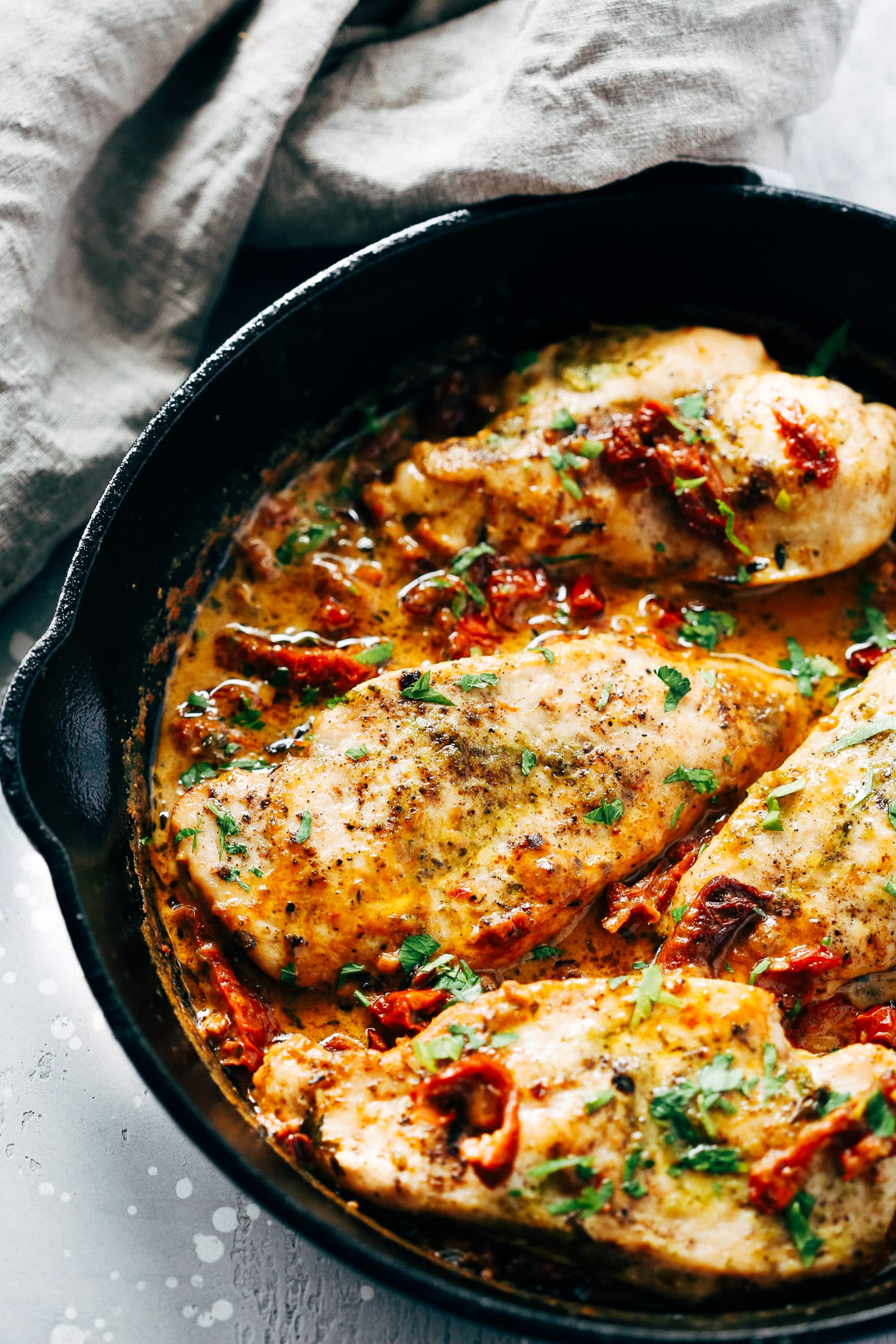Creamy Parmesan Chicken Skillet Primavera Kitchen Recipe