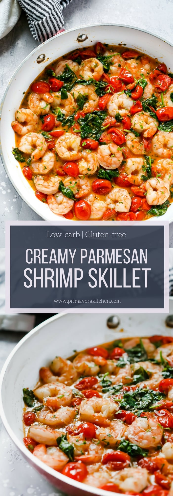 Creamy Parmesan Shrimp Skillet Primavera Kitchen Recipe