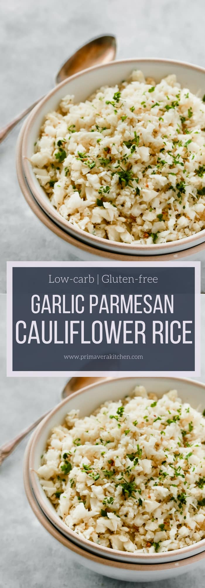 Garlic Parmesan Cauliflower Rice Primavera Kitchen Recipe