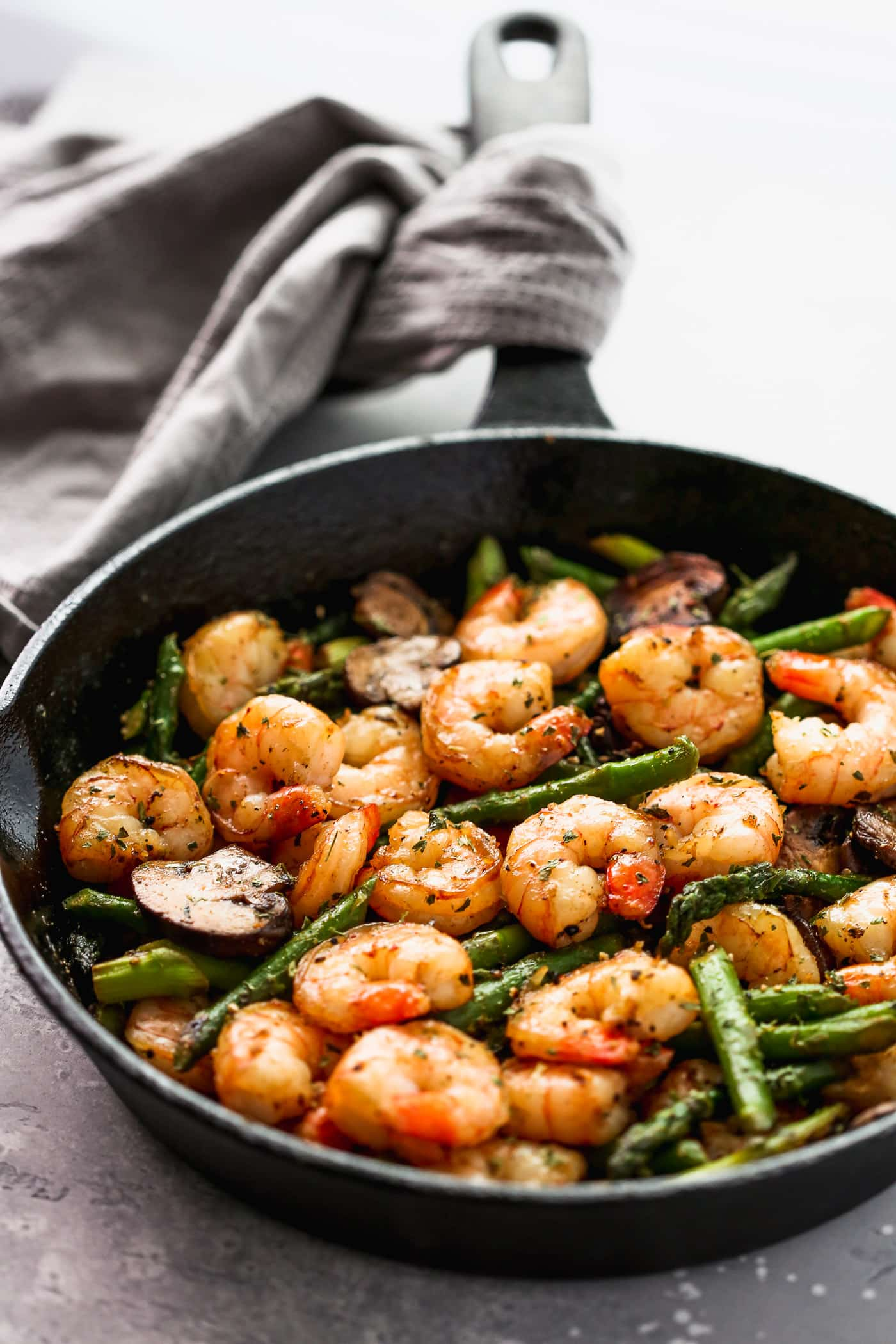 Garlic Shrimp Asparagus Skillet Primavera Kitchen