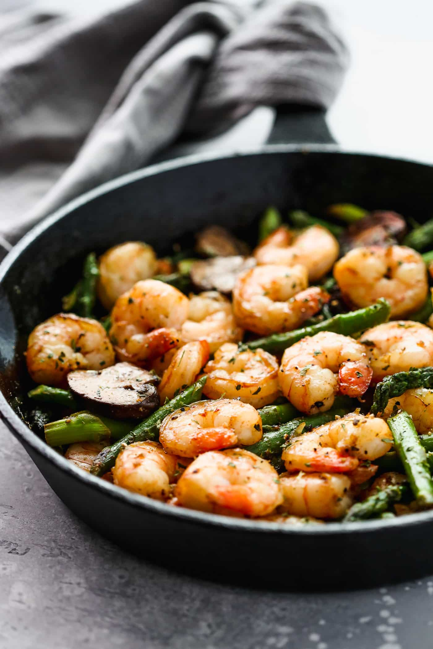 Garlic Shrimp Asparagus Skillet Primavera Kitchen Recipe