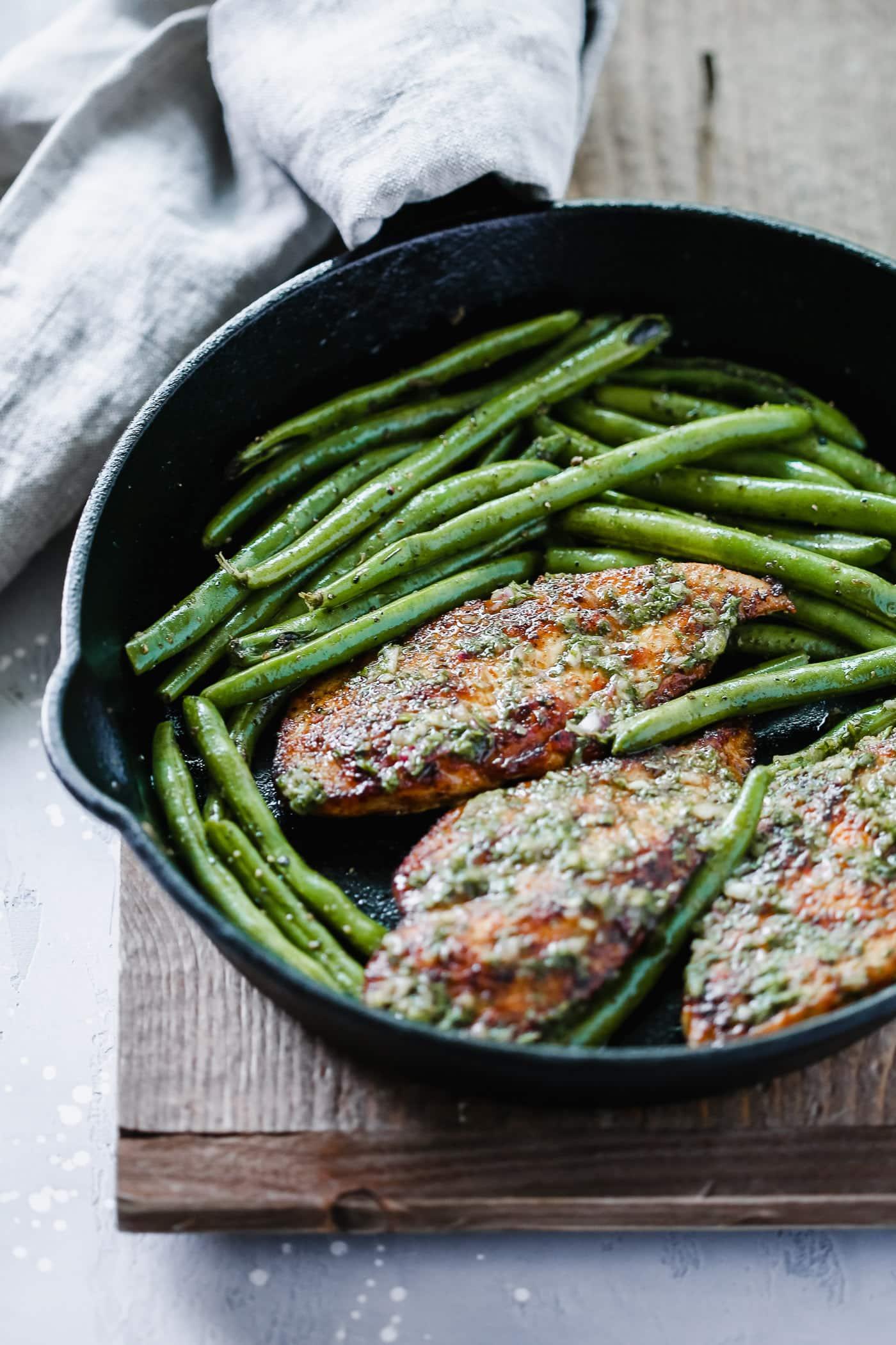 Chimichurri Chicken Green Beans Skillet - Primavera Kitchen