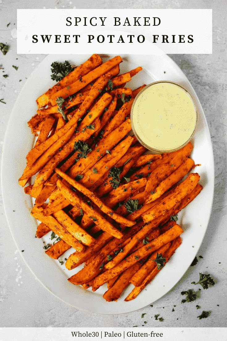 Spicy Baked Sweet Potato Fries - Primavera Kitchen