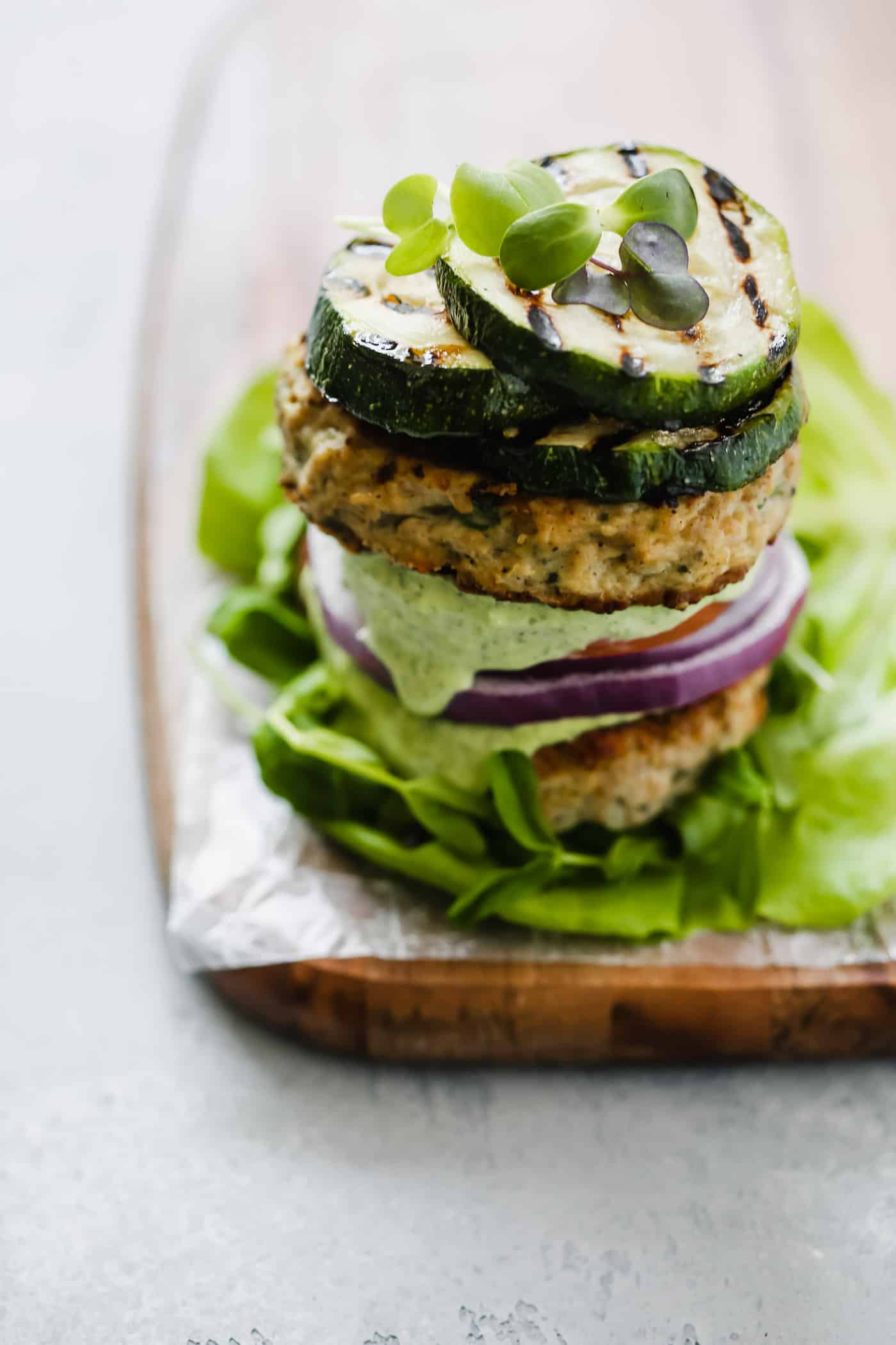 Whole30 Bunless Turkey Burger Recipe - Primavera Kitchen