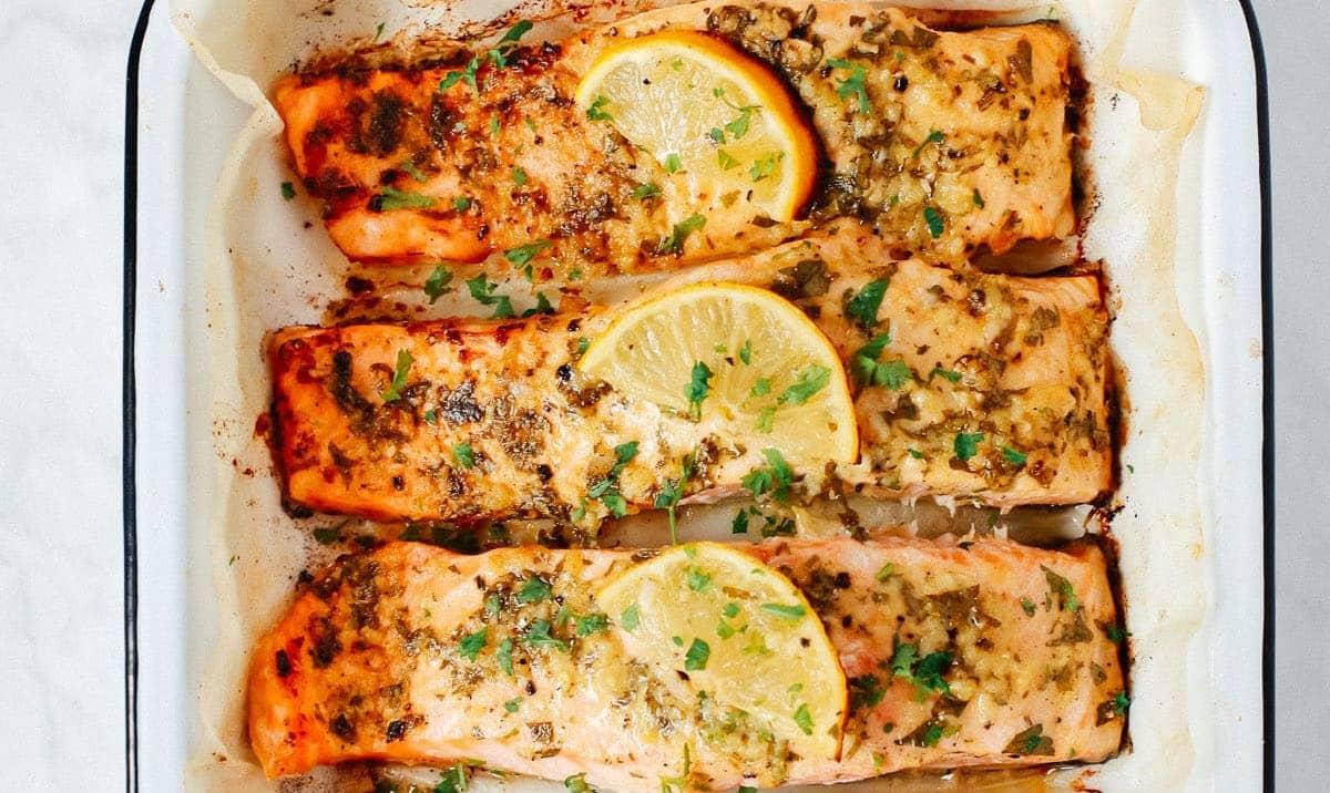 Baked Lemon Dijon Salmon