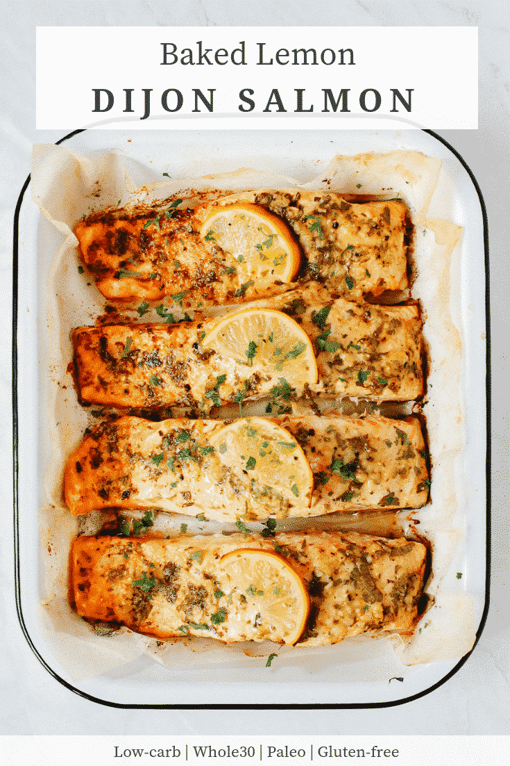 Baked Lemon Dijon Salmon