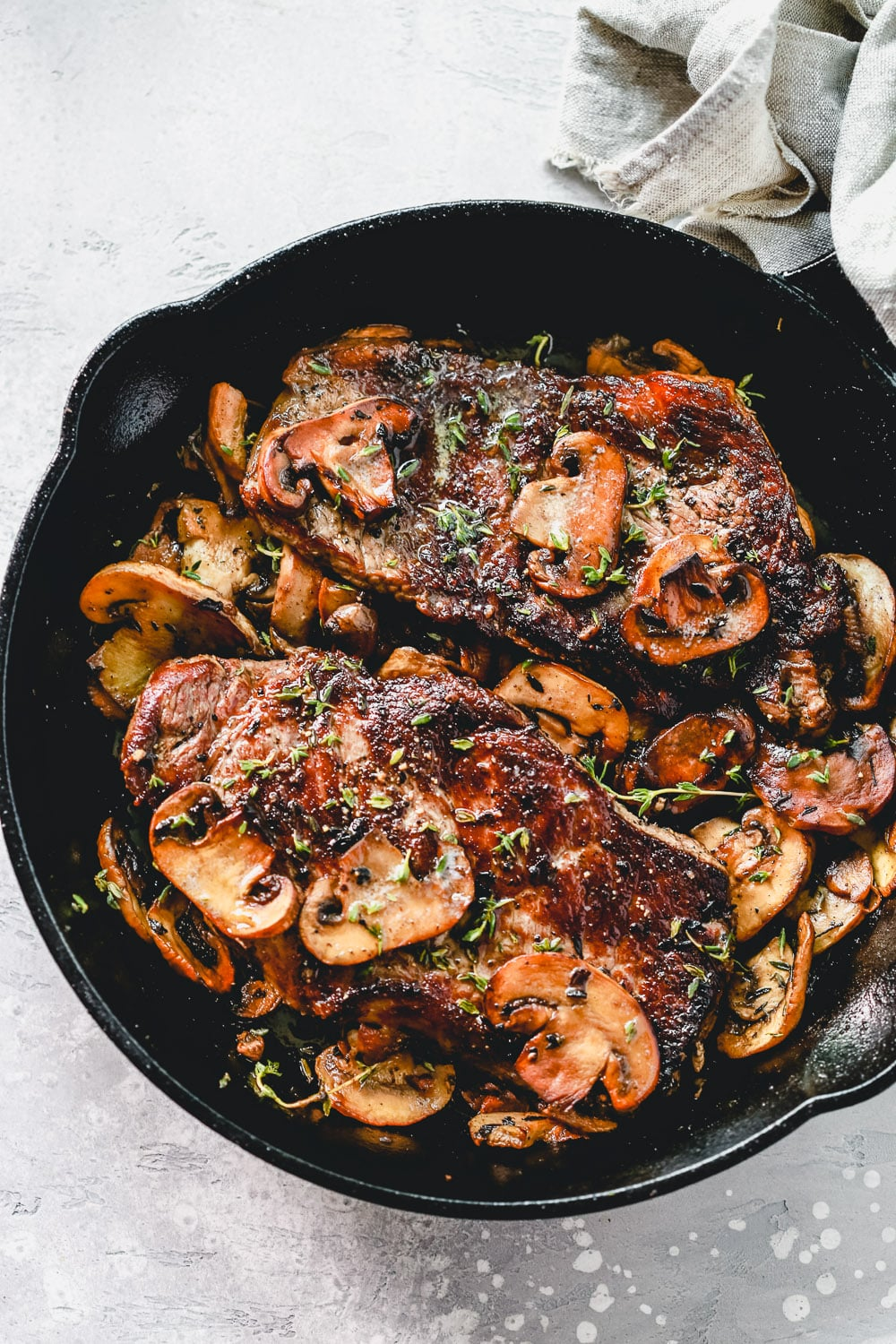 Pan Seared Steak with Mushrooms - Primavera Kitchen