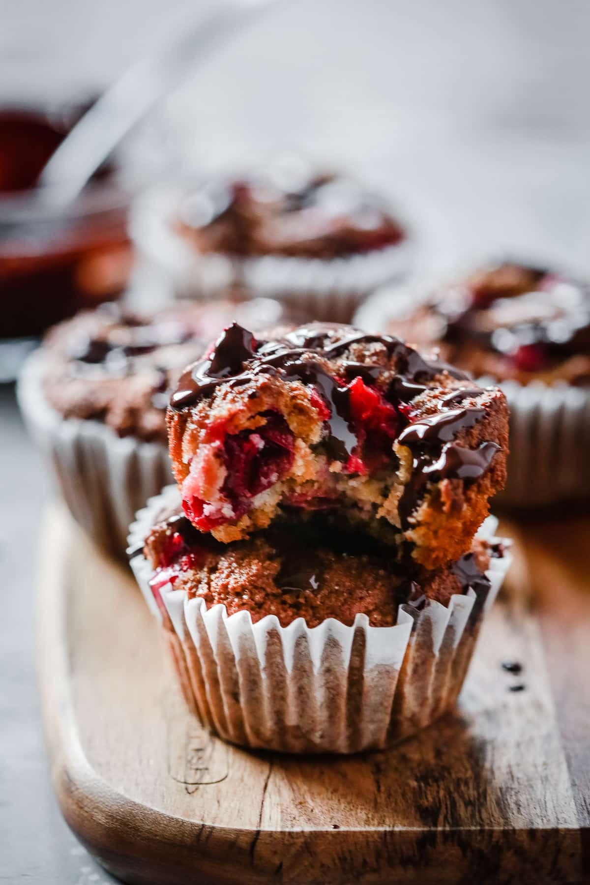Almond Flour Cranberry Muffins