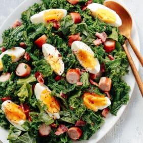 Easy Kale Breakfast Salad Recipe.